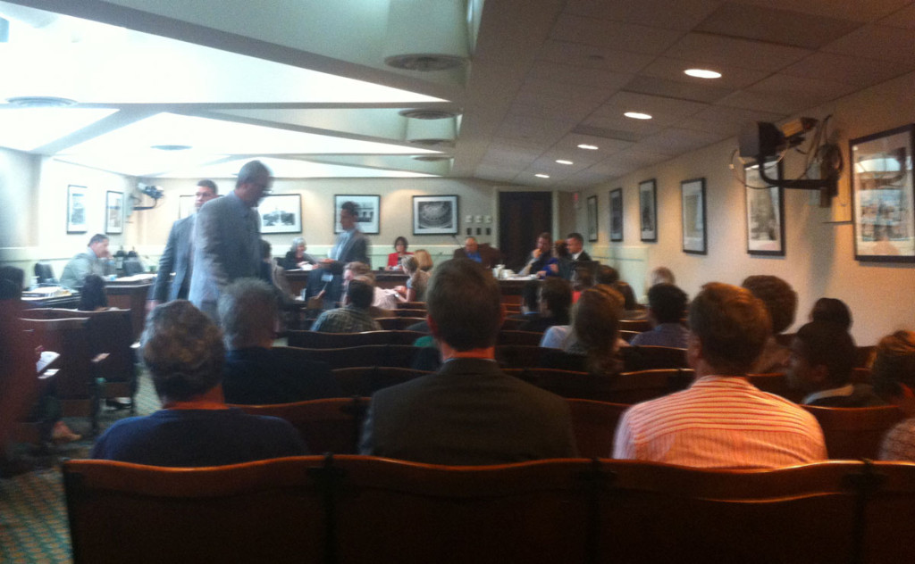 View of the WPWC hearing room just moments before the vote on AB 2019